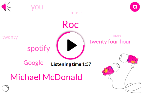 ROC,Michael Mcdonald,Spotify,Google,Twenty Four Hour