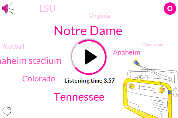 Notre Dame,Tennessee,Anaheim Stadium,Colorado,Anaheim,LSU,Virginia,Football,Wisconsin,SEC,Mattering,Auburn,Illinois,Florida,Nebraska,Bama,Brassica,Texas,Austin
