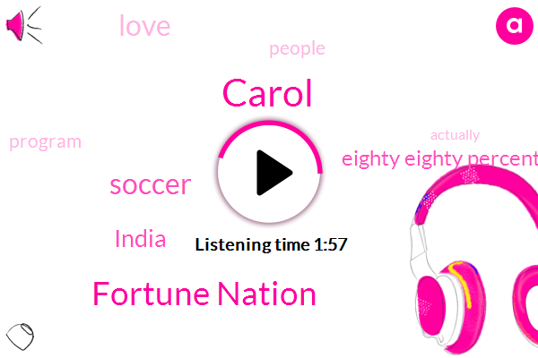 Carol,Fortune Nation,Soccer,India,Eighty Eighty Percent