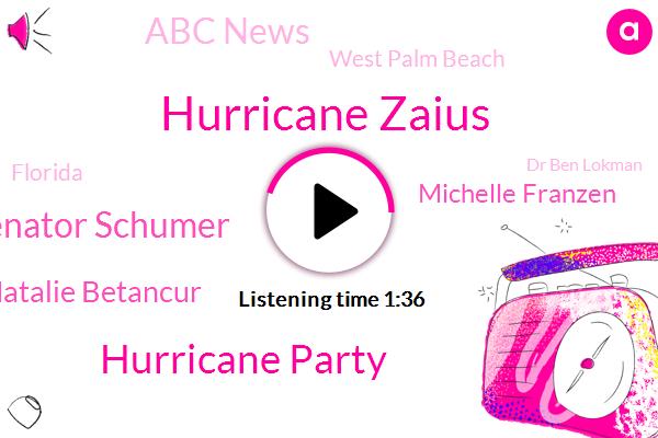 Hurricane Zaius,Hurricane Party,Senator Schumer,Natalie Betancur,Michelle Franzen,Abc News,West Palm Beach,Florida,ABC,Dr Ben Lokman,Emory University,CDC,Atlanta,Professor,Georgia