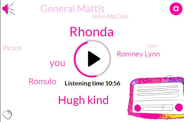 Rhonda,Hugh Kind,Romulo,Romney Lynn,General Mattis,John Mccain,Picard,Josh,Netflix,United States,JI,Geminis,Jimmy Coven,Picardy,Hulu,Hughes,Roffe Topa,Gemini