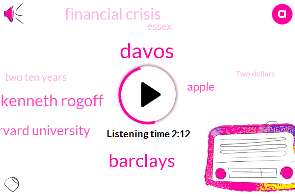 Davos,Barclays,Kenneth Rogoff,Harvard University,Apple,Financial Crisis,Bloomberg,Essex,Two Ten Years,Two Dollars