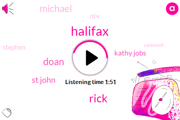Halifax,Rick,Doan,St John,Kathy Jobs,Michael,NTV,Stephen,Carbonell,Britain,Twenty Two Minutes,Ninety Four Years,22 Minutes