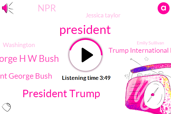 President Trump,President George H W Bush,President George Bush,Trump International Hotel,NPR,Jessica Taylor,Washington,Emily Sullivan,United States,Sukey Lewis,Jeb Bush,Laura Bush,San Franciscans,Maryland,National Cathedral,Capitol Rotunda