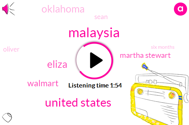 Malaysia,United States,Eliza,Walmart,Martha Stewart,Oklahoma,Sean,Oliver,Six Months