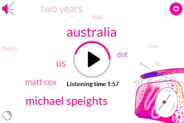 Australia,Michael Speights,United States,Matt Cox,DOT,Two Years