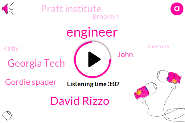 Engineer,David Rizzo,Georgia Tech,Gordie Spader,John,Pratt Institute,Brooklyn,Kirby,New York