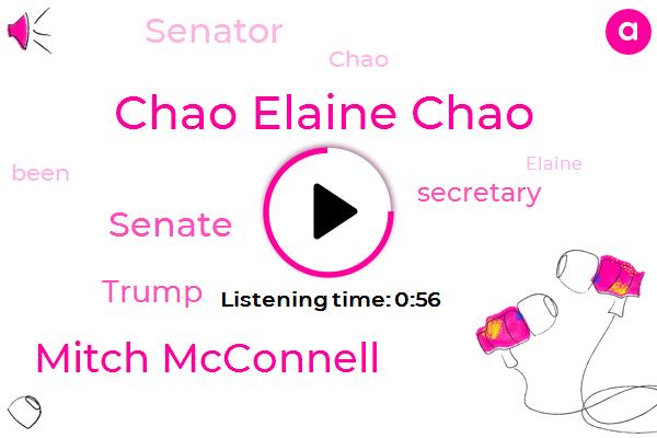 Chao Elaine Chao,Senate,Mitch Mcconnell,Donald Trump,Secretary,Senator