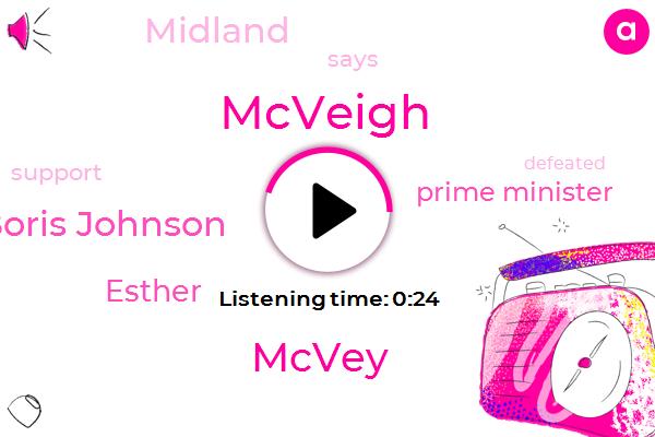 Listen: Tory leadership: Boris Johnson wins backing from Esther McVey