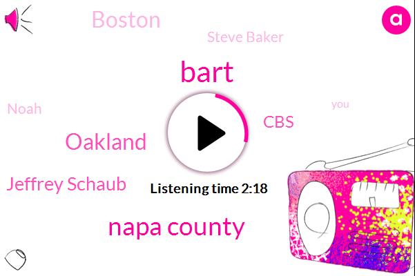 Bart,Napa County,Oakland,Jeffrey Schaub,CBS,Boston,Steve Baker,Noah