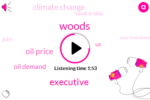Woods,Executive,Oil Price,Oil Demand,United States,Climate Change,Saudi Arabia,John,Sixty Three Dollars,Million Barrels,Three Years,Ten Years,Two Year