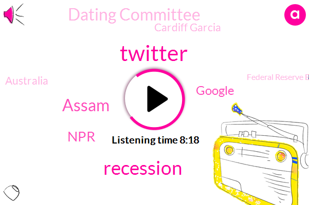 Twitter,Assam,NPR,Google,Dating Committee,Cardiff Garcia,Australia,Federal Reserve Board,Community Affairs,Washington Center,Gerry,Congress,Klaudia,Nadia Lewis