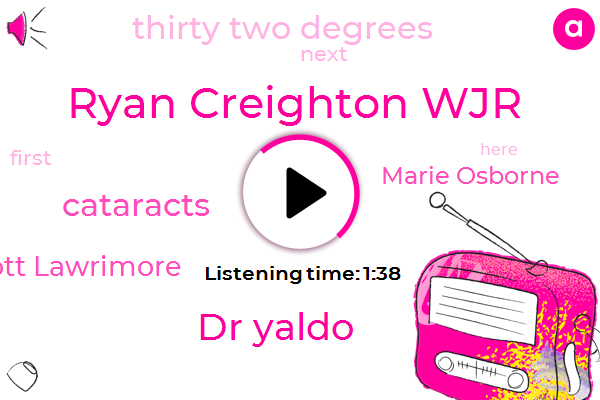 Ryan Creighton Wjr,Dr Yaldo,Cataracts,Scott Lawrimore,Marie Osborne,Thirty Two Degrees