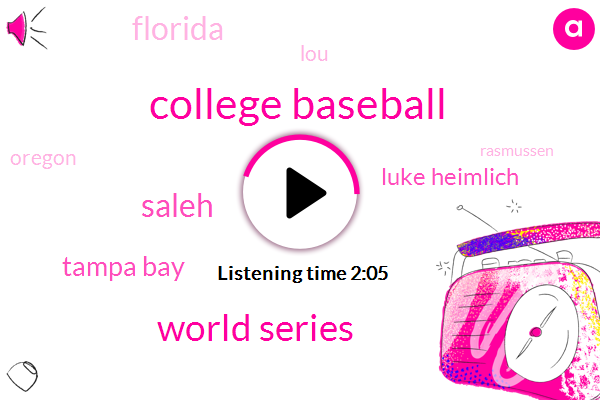 College Baseball,World Series,Saleh,Tampa Bay,Luke Heimlich,Florida,LOU,Oregon,Rasmussen,NC,Jared,Baker