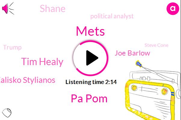 Mets,Pa Pom,Tim Healy,Zalisko Stylianos,Joe Barlow,Shane,Political Analyst,Donald Trump,Steve Cone,Natalie,Michael Row,Todd,President Trump,Writer