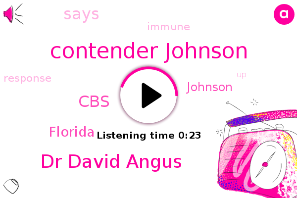Contender Johnson,Dr David Angus,CBS,Florida