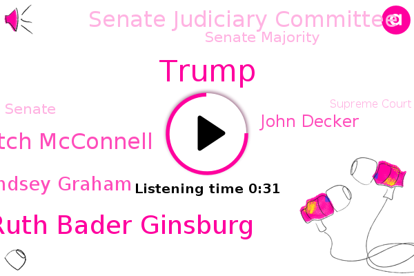 Justice Ruth Bader Ginsburg,Senate Judiciary Committee,Senate Majority,Senate,President Trump,Mitch Mcconnell,Supreme Court,Lindsey Graham,John Decker,Donald Trump,Chairman