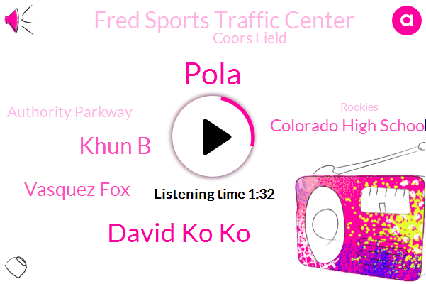 Pola,David Ko Ko,Colorado High School Activities Association,Football,Napa,Fred Sports Traffic Center,Coors Field,Khun B,Authority Parkway,Vasquez Fox,Rockies,Colorado,Denver,Angels