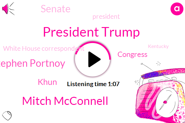 President Trump,Mitch Mcconnell,Congress,White House Correspondent,Stephen Portnoy,Senate,Khun,CBS,Kentucky
