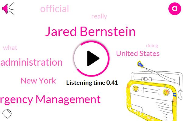 New York City Office Of Emergency Management,Jared Bernstein,New York,Obama Administration,United States,Official