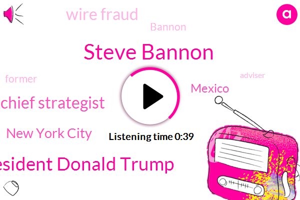Steve Bannon,President Donald Trump,Chief Strategist,New York City,Wire Fraud,Mexico