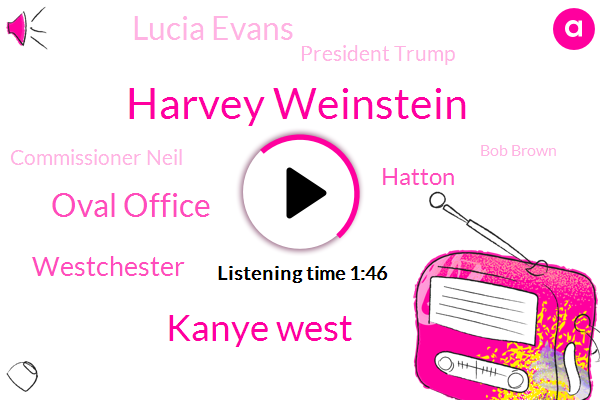 Harvey Weinstein,Kanye West,Oval Office,Westchester,Hatton,Lucia Evans,President Trump,Commissioner Neil,Bob Brown,Nypd,Long Island,Jimmie,New York,Ben Bronfman,Brooklyn,Jim Brown,Wabc,White House