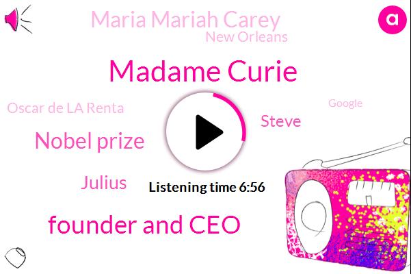Madame Curie,Founder And Ceo,Nobel Prize,Julius,Steve,Maria Mariah Carey,New Orleans,Oscar De La Renta,Google,Twitter,D Lesch,Switzerland,Laurie,Kelly,Vegas,Simion,Marcus Willis,SAN,Ronnie