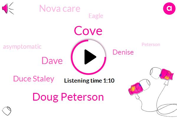 Doug Peterson,Dave,Duce Staley,Asymptomatic,Nova Care,Cove,Denise,Eagle