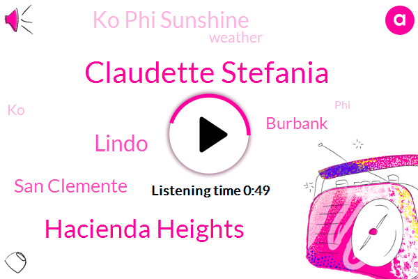 Ko Phi Sunshine,Claudette Stefania,Hacienda Heights,San Clemente,Lindo,Burbank