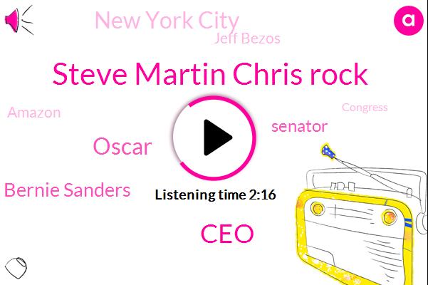 Steve Martin Chris Rock,CEO,Oscar,Bernie Sanders,Senator,New York City,Jeff Bezos,Amazon,Congress,President Trump,Medicare,Donald Trump,Iowa Democratic Party,Iowa,New York Post