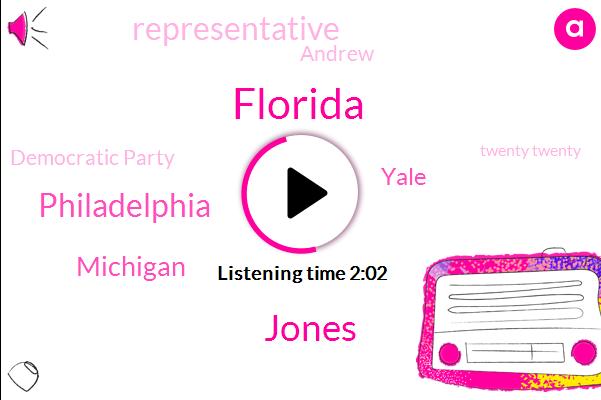 Florida,Jones,Philadelphia,Michigan,Yale,Representative,Andrew,Democratic Party,Twenty Twenty,Steven Hamlin,Pennsylvania,Director,Anthony Liza,Alexandria,Nancy Pelosi