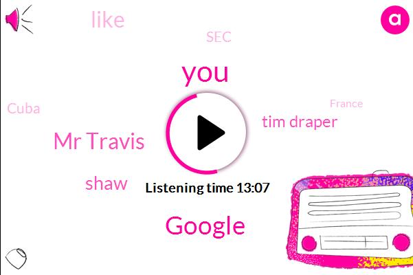 Google,Mr Travis,Shaw,Tim Draper,SEC,Cuba,France,Starbucks,IBM,Twenty Twenty,Liam,Mr Tacoma,Darrow Gill,New York,Coin Telegraph,Advisor,Mike