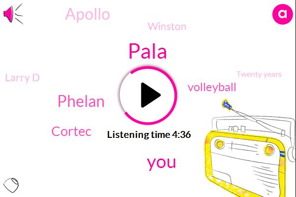 Baseball,Pala,Phelan,Cortec,Volleyball,Apollo,Winston,Larry D,Twenty Years