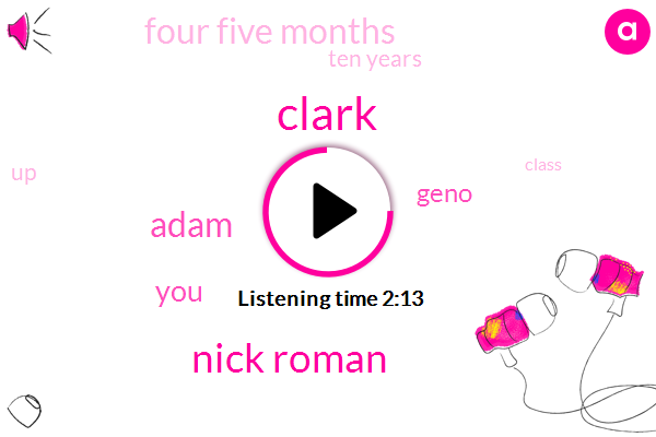 Nick Roman,Clark,Adam,Geno,Four Five Months,Ten Years