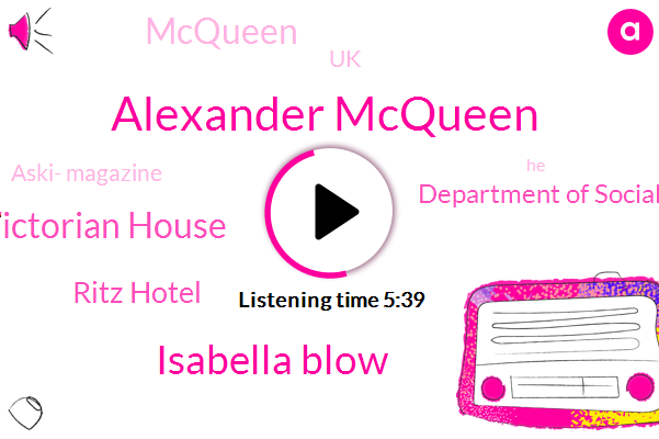 Alexander Mcqueen,Isabella Blow,Grand Victorian House,Ritz Hotel,Department Of Social Security,UK,Aski- Magazine