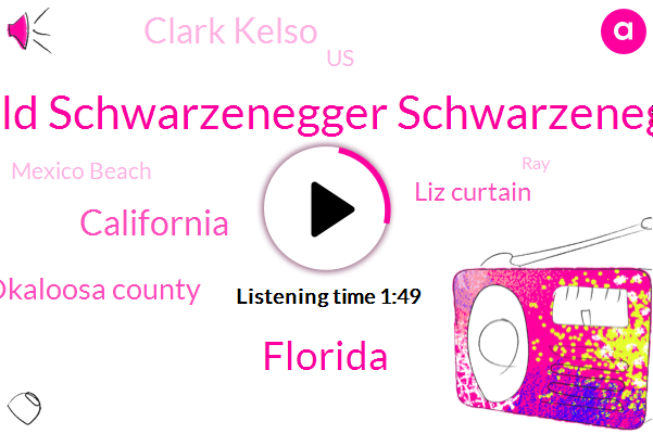 Arnold Schwarzenegger Schwarzenegger,Florida,California,Okaloosa County,Liz Curtain,Clark Kelso,United States,Mexico Beach,RAY,Hurricane Michael,Official,Kathy,Georgia,Virginia,Billion Dollars,Six Year