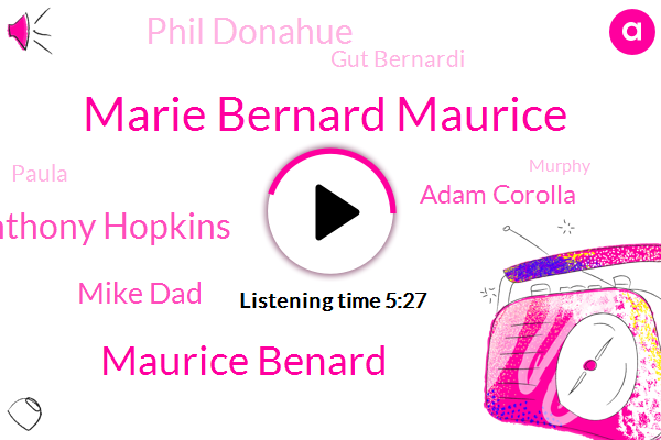Marie Bernard Maurice,Maurice Benard,General Hospital,Anthony Hopkins,Mike Dad,Adam Corolla,Phil Donahue,Gut Bernardi,Paula,ABC,Murphy