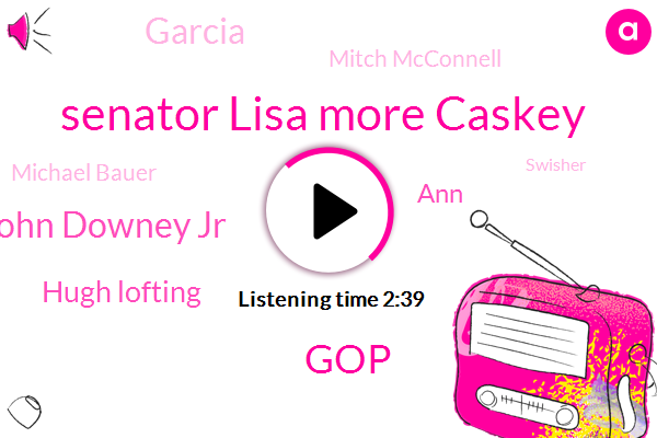Senator Lisa More Caskey,GOP,Robert John Downey Jr,Hugh Lofting,ANN,Garcia,Mitch Mcconnell,Michael Bauer,Swisher,AMD,Curtis Candy Company,Marable,Eddie Murphy,Doctor Doolittle,America,Milwaukee,Johnny Gruel,Andy