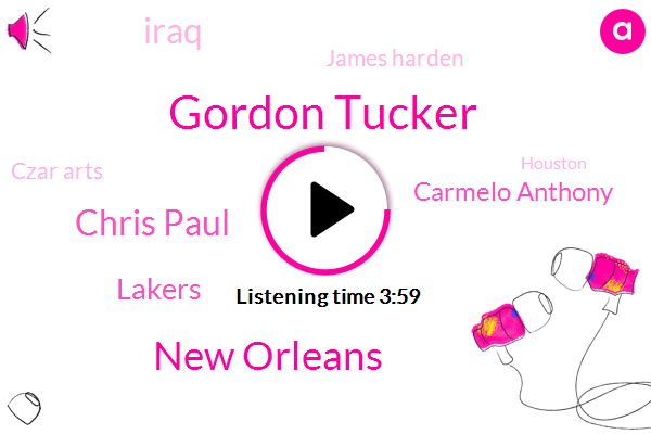 Gordon Tucker,New Orleans,Chris Paul,Lakers,Carmelo Anthony,Iraq,James Harden,Czar Arts,Houston,Michael Carter Williams,James Ennis,Jimmy Butler,Eric, Gordon,Phoenix,Reza,PAT,James,Chris Ball,Quicks,Brandon