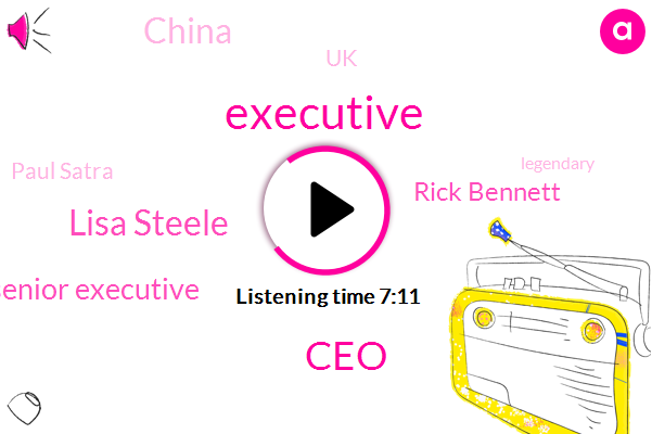 Executive,CEO,Lisa Steele,Senior Executive,Rick Bennett,China,UK,Paul Satra,Asia,Bruce Cleveland,Dacian,United States,Wahlberg,Independent Agency Agency,Paul Mars Company,John Wall,Australia