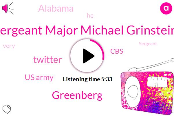 Sergeant Major Michael Grinstein,Twitter,Greenberg,Us Army,Alabama,CBS