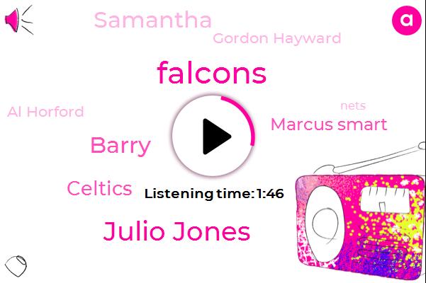 Falcons,Julio Jones,Barry,Celtics,Marcus Smart,Samantha,Gordon Hayward,Al Horford,Nets,NBA