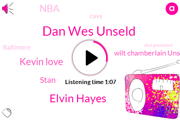 CBS,Dan Wes Unseld,Baltimore,Vice President,General Manager,Elvin Hayes,Cavs,Kevin Love,Stan,NBA,Washington,MVP,Wilt Chamberlain Unseld,Louisville