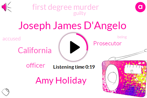 Joseph James D'angelo,California,First Degree Murder,Amy Holiday,Prosecutor,Officer