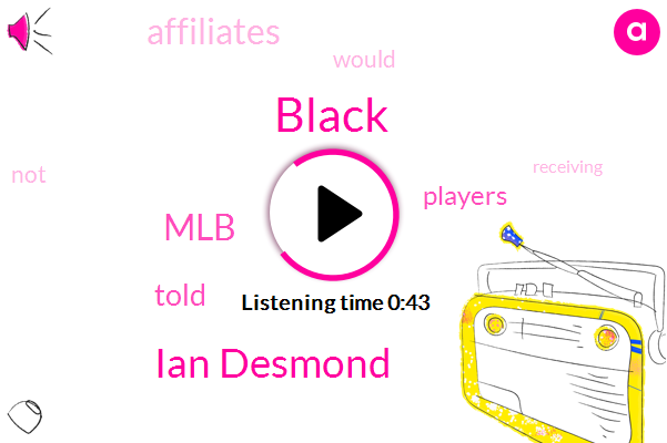 MLB,Black,Ian Desmond