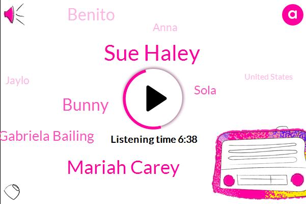 Sue Haley,Mariah Carey,Bunny,United States,Jaylo,Gabriela Bailing,Sola,Benito,Katrina,Director,Anna