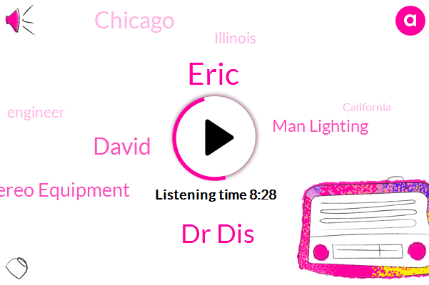 Chicago,Illinois,Engineer,Eric,Dr Dis,California,Reporter,Mid West,Wisconsin,Madison Wisconsin,Connecticut,East Coast,David,Stereo Equipment,PA,Man Lighting,Duluth,Minnesota