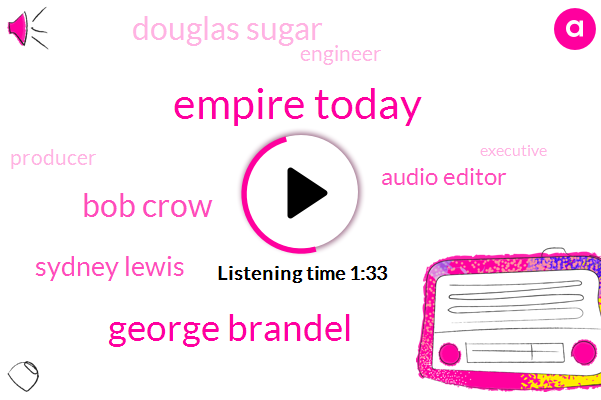 Empire Today,George Brandel,Bob Crow,Sydney Lewis,Audio Editor,Douglas Sugar,Engineer,Producer,Executive,Sultan Obrien,Christopher Kimble,Vicky Merrick,Melissa Allison,Production Assistant,Campbell,Spotify,Assault,Milk