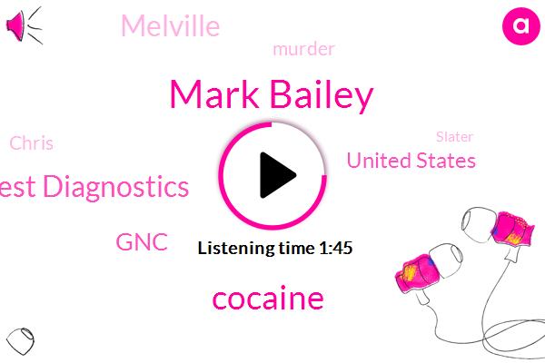 Mark Bailey,Cocaine,Quest Diagnostics,GNC,United States,Melville,Murder,Chris,Slater,Billy,Fifteen Hundred Pound,Seventeen Hours