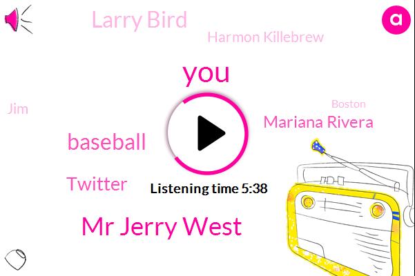 Mr Jerry West,Baseball,Twitter,Mariana Rivera,Larry Bird,Harmon Killebrew,JIM,Boston,Joe Girardi,Mr Clutch,Billy King,Dennis,Darryl,Jimmy,Mr Peabody,Basketball,Tyronn Lue,Yankees,Jack Jack Dorsey